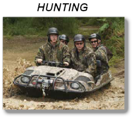 ARGO ATV HUNTING