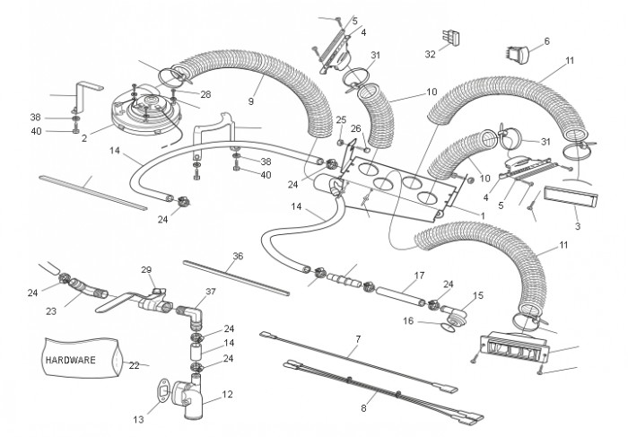 958-156 - acc  heater  defroster