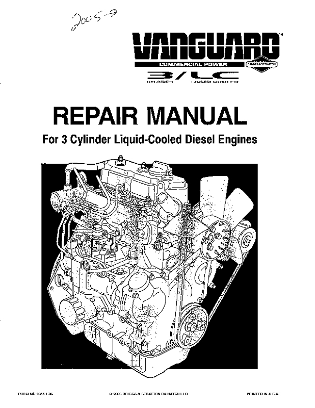 MS1055-1 MANUAL, REPAIR - CENTAUR ENGINE DAIHATSU