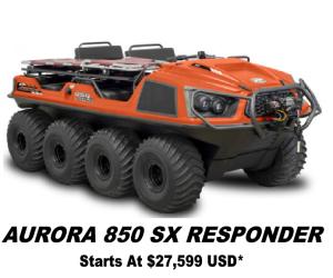 Argo Aurora 850 SX Responder 8x8