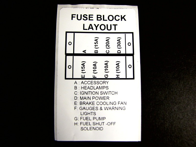 127-126 - LABEL, FUSE PANEL - KAWASAKI