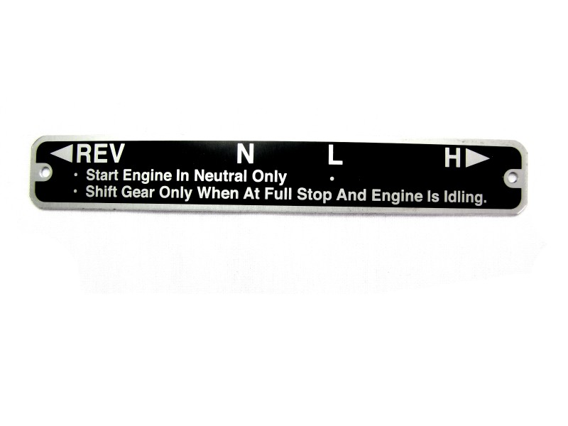 127-152 - PLATE, SHIFTING LABEL
