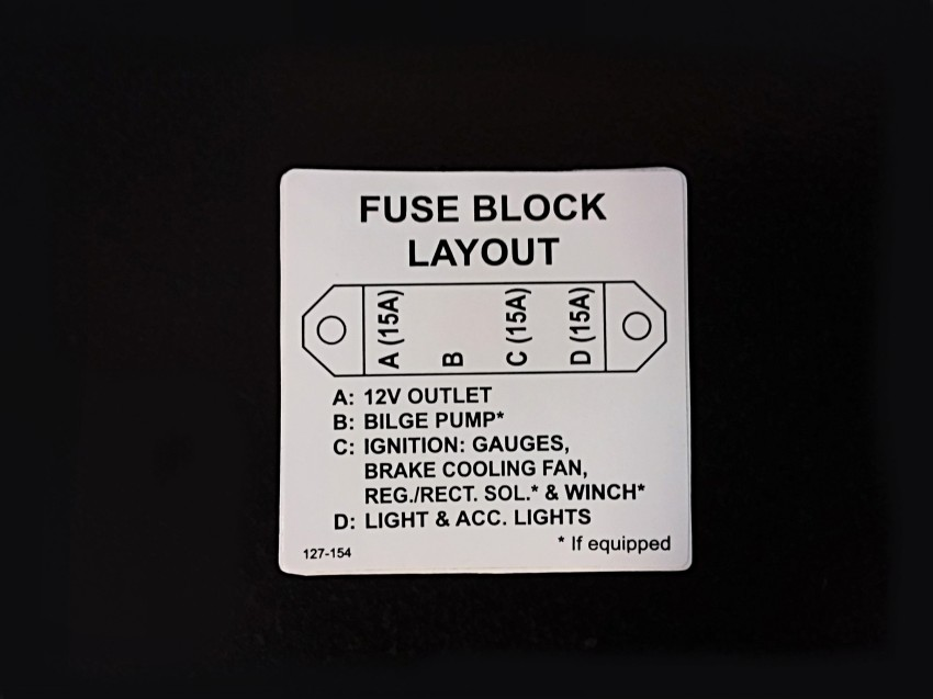 127-154 - LABEL, FUSE PANEL 20/50 AMP