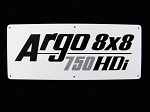 127-196 - NAMEPLATE, ARGO 750HDi - DISCONTINUED