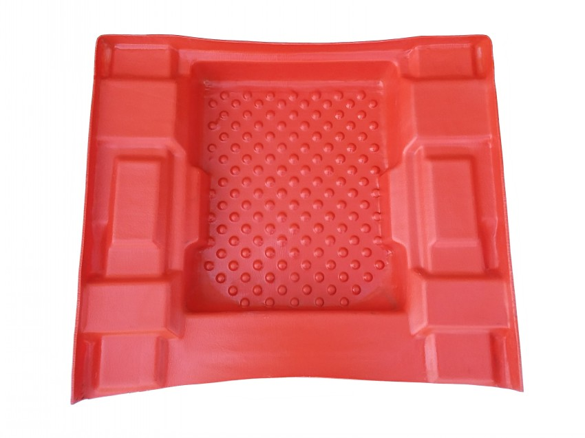 603-02OR  FLOOR PAN, FRONT - ORANGE - DISCONTINUED
