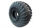 127-182SL - 25X12-9 TIRE ON OFFSET STEEL BLACK 9 INCH RIM - LEFT - SUPERSEDED