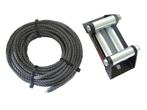 W72128  WARN SYNTHETIC ROPE AND FAIRLEAD 50' X 3/16