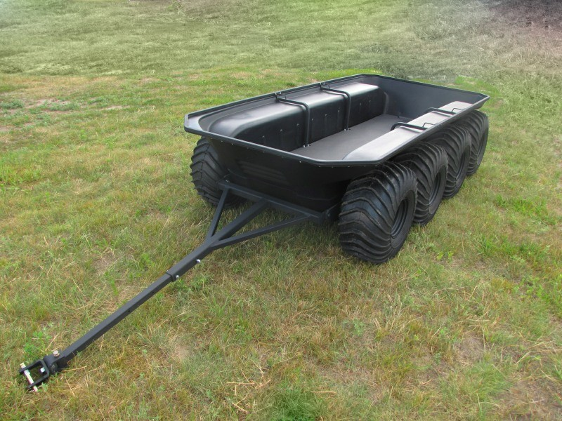 AMPHIBIOUS 8 WHEEL TRAILER