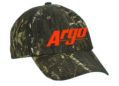 119229MO - ARGO ATV MOSSY OAK BREAK-UP HAT W/ ORANGE LOGO